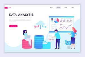 Auditing en data-analyse webbanner vector