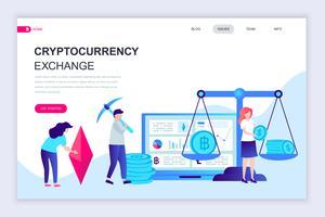 cryptocurrency exchange webbanner vector