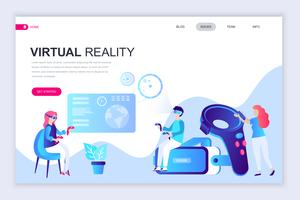 virtuele augmented reality webbanner vector