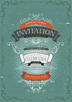Vintage uitnodiging poster achtergrond
