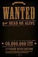 Gezocht Western Poster Achtergrond