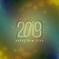 Abstracte Gelukkige Nieuwjaar 2019 kleurrijke achtergrond vector