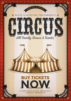 Vintage gouden circus achtergrond