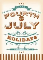 Vintage vierde juli-vakantie