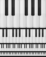 Piano-toetsenbord naadloze achtergrond vector