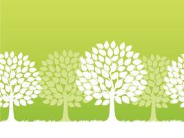 Naadloze vector lente bomen illustratie.