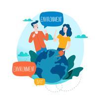 Wereldmilieudag ecologisch concept vector