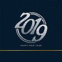 Gelukkig nieuw jaar 2019 stijlvolle groet achtergrond vector
