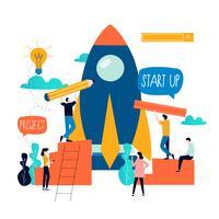 Bedrijfsonderzoek vlak bedrijfs vectorillustratieontwerp