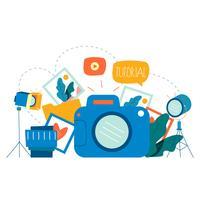 Fotoklassen, fotografiecursussen vector