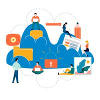 Cloud computing-services en -technologie vector