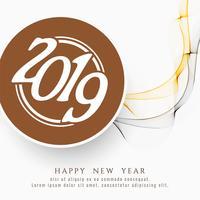 Abstracte gelukkig Nieuwjaar 2019 viering achtergrond vector