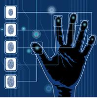 Hand scannen vector