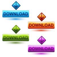 Knop downloaden vector