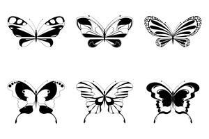 Set van vlinder vector