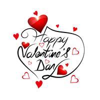 Het ontwerp van het de kaarthart van de elegante Gelukkige valentijnskaart van de dagliefde vector