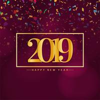Abstract Gelukkig nieuw jaar 2019 achtergrondontwerp vector