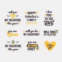 Valentijnsdag berichten vector