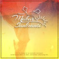 Abstracte gelukkige Makar Sankranti-achtergrond vector