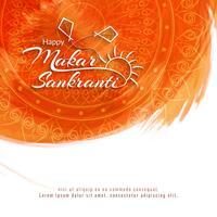 Abstracte gelukkige Makar Sankranti religieuze achtergrond vector