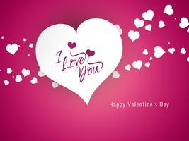 Abstracte gelukkige Valentijnsdag decoratieve achtergrond vector