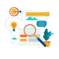 SEO, zoekmachine optimalisatie vector