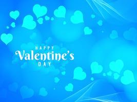 De heldere blauwe achtergrond van de abstracte Gelukkige Valentijnskaart