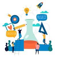 Onderzoek, onderwijs, science lab-project