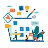 Website ontwikkeling vector