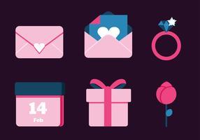 Valentijnsdag elementen Vector Pack