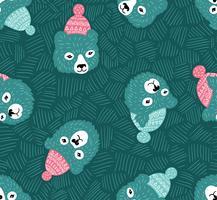 Vector naadloos patroon. Winterberen.