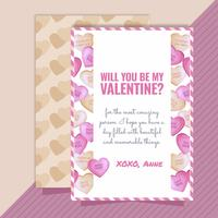 Vector Valentijnsdag kaart