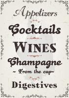Franse restaurantalcohol en drankachtergrond