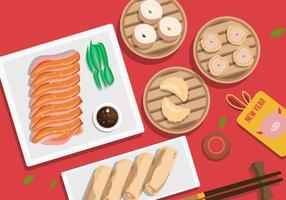 Chinees Nieuwjaar varken diner vectorillustratie vector