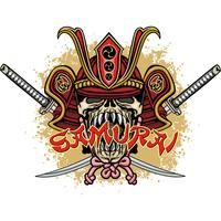 samurai schedel teken