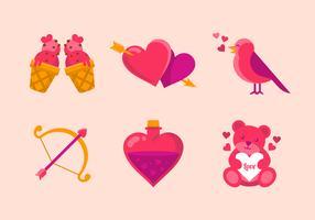 Valentijn elementen vector