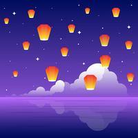 Sky Lantern Festival Illustratie vector