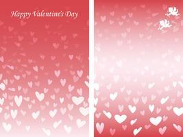 Set van twee Valentijnsdag naadloze achtergrondpatronen. vector