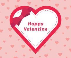 Valentine Heart Frame als een geschenk vector