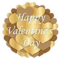 Valentijnsdag vector cirkel achtergrond afbeelding.