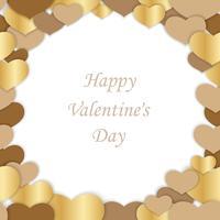 Valentijnsdag naadloze vector frame illustratie.