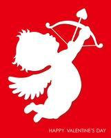 Valentine's Day 3D-reliëf Cupido pictogram.