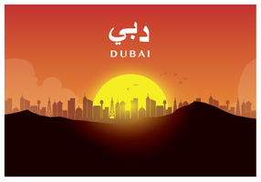 Dubai illustratie poster