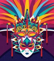 Levendig Carnevale Di Venezia maskerontwerp vector