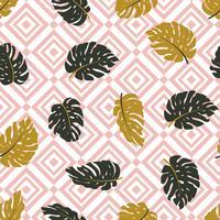 Naadloos hand getrokken tropisch patroon