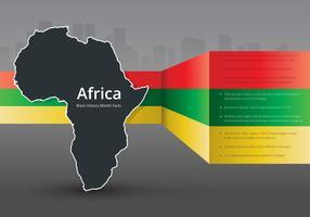 Zwarte geschiedenismaand Infographic Ilustration vector