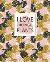 Tropische planten achtergrond vector