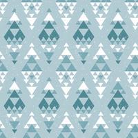 Azteekse abstracte geometrische kunstdruk.