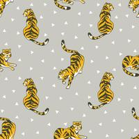 Vector naadloos patroon met tijgers
