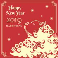 Chinees Nieuwjaar varken Banner vector